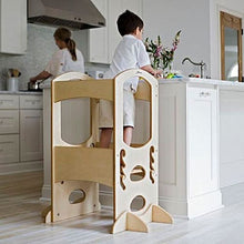 Boy standing on kids kitchen stool - Little Partners - The Original Learning Tower