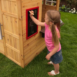 Girl writing on blackboard - Modern Outdoor Playhouse