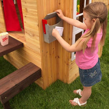 Girl posting mail - Modern Outdoor Playhouse