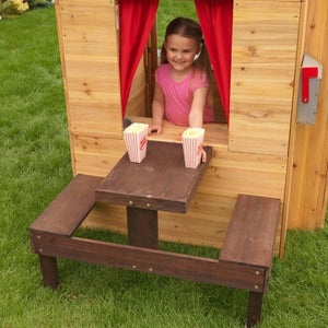 Girl looking out window - Modern Outdoor Playhouse