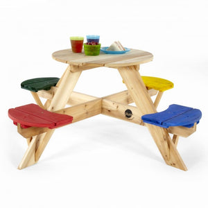Plum® Circular Picnic Table With Coloured Seats - Kids Picnic Table