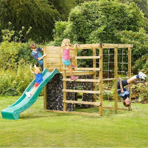 Plum® Climbing Cube Play Centre - Kids Playing on Playset
