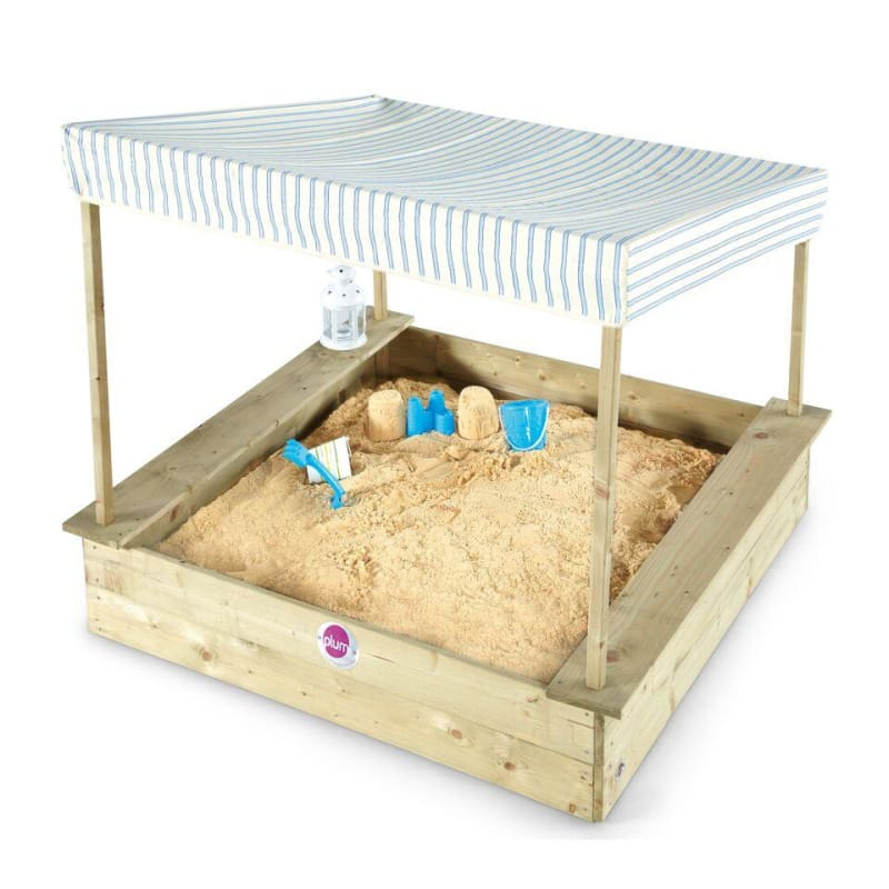 Plum® Palm Beach Wooden Sand Pit - Sand Pit with Canopy