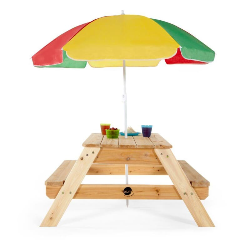Plum® Picnic Table With Umbrella - Kids Picnic Table