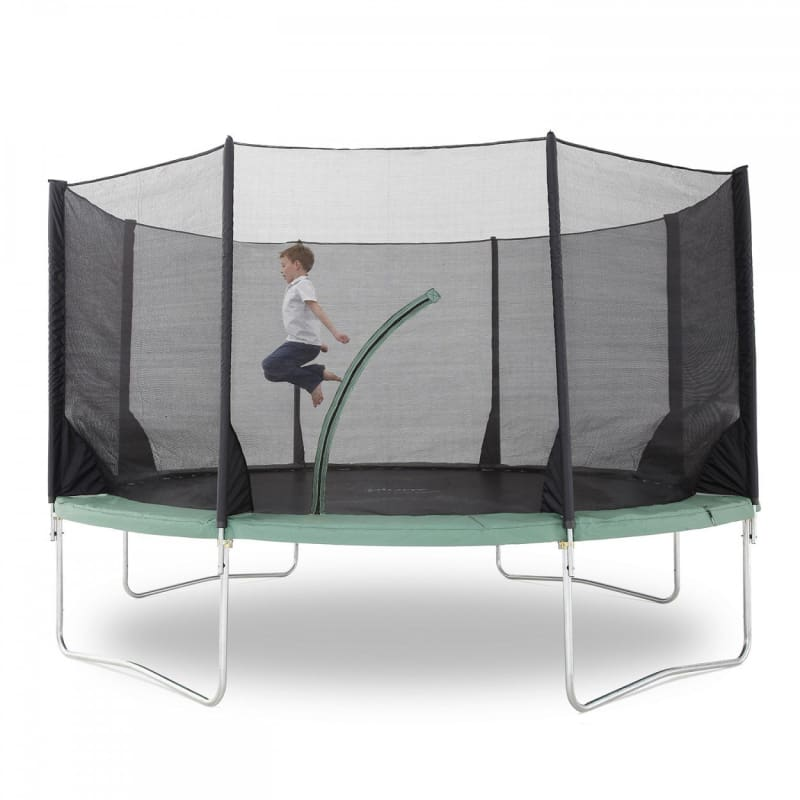 Plum® 14Ft Space Zone V3 Trampoline - Boy Jumping in Trampoline