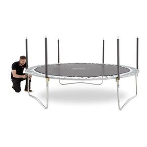 Plum® 14Ft Space Zone V3 Trampoline - Man Assembling Trampoline