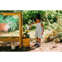 Plum® Discovery Create & Paint Easel - Girl watering flowers