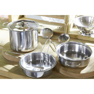 Plum® Discovery Mud Pie Kitchen - Steel Pots and Pans