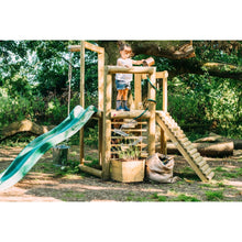Plum® Discovery Woodland Treehouse - 2 Girls Playing on Play Set