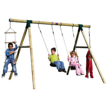 Plum® Gibbon Wooden Swing Set - Kids Playing