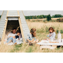 Plum® Great Wooden Teepee - Picnic in front of Cubby House