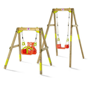 Plum® Growing Wooden Swing Set - 2 Swing Sets
