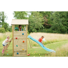 Plum® Lookout Tower Colour Pop Play Centre - Girl and Boy playing on playset