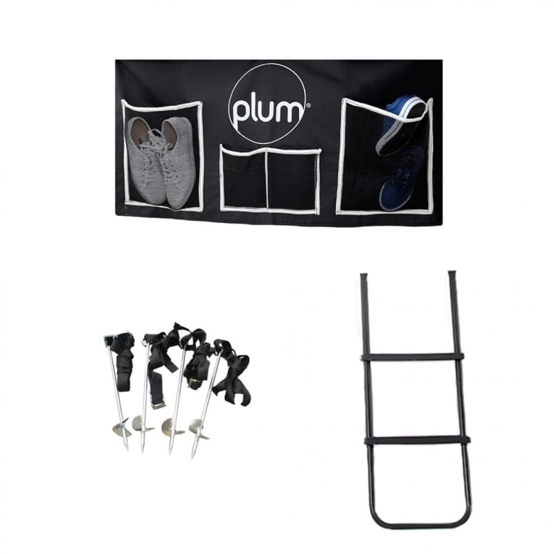 Plum® Trampoline Accessory Kit - Anchor Kit - Ladder - Shoe Bag