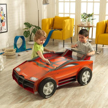 2 Boys Playing with Kids Car Activity Table