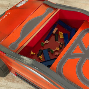 Kids Car Activity Table - storage compartment