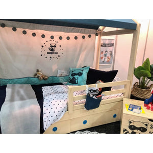 Timber Safety Rail - Kids Bed Addon - Natural Pine Colour