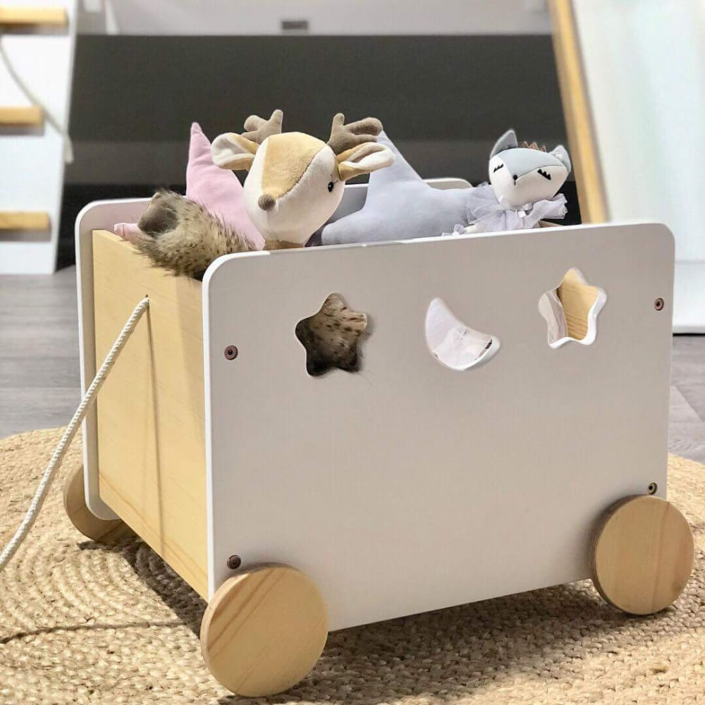 Kids Toy Box On Wheels
