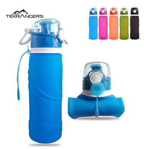 750Ml Collapsible Silicone Water Bottle - - Equipment