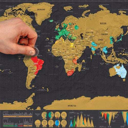 Deluxe World Scratch Map - - Equipment