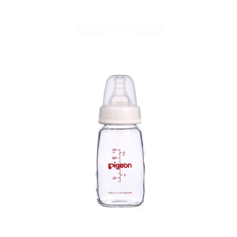 Flexible Peristaltic Slim Neck Nursing Bottle Glass 120ml (S)