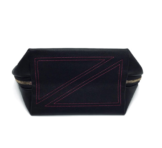 Kusshi - Grey & Purple Vacationer Makeup Bag