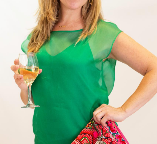 Load image into Gallery viewer, Marella - Kelly Green Silk Georgette Blouse