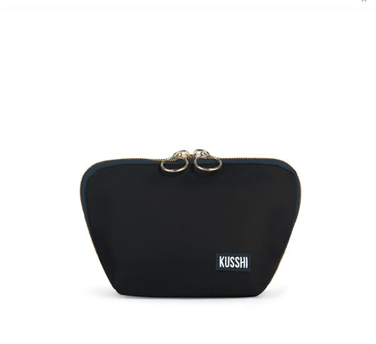 Load image into Gallery viewer, Kusshi - Black & Red Everyday Makeup Bag