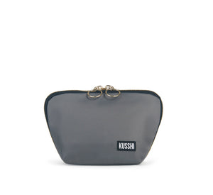 Kusshi - Grey & Purple Everyday Makeup Bag