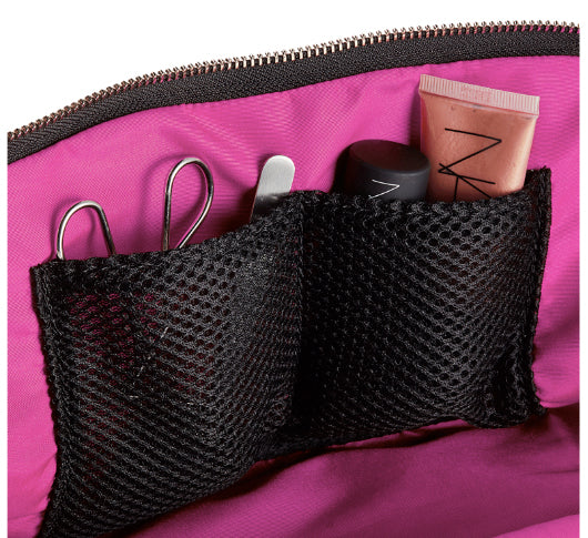 Load image into Gallery viewer, Kusshi - Navy & Pink Signature Makeup Bag