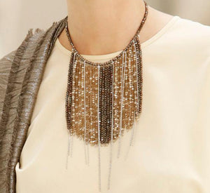 Peserico Crystal Cascade Necklace