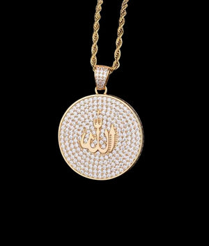14K GOLD ARABIC MEDALLION PENDANT