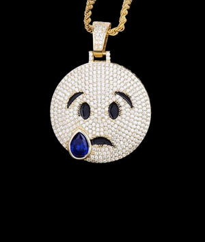 14K GOLD CRYING EMOJI PENDANT