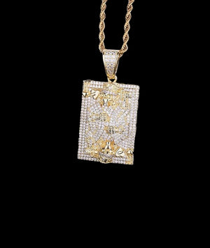14K GOLD KING OF HEARTS PENDANT