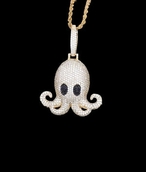 14K GOLD OCTOPUS PENDANT