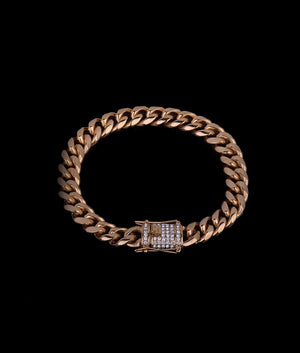 (11MM) GOLD CUBAN BRACELET