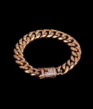 (14MM) GOLD CUBAN BRACELET