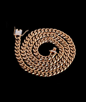 (12MM) GOLD CUBAN CHAIN