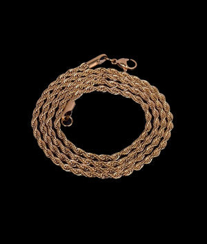 (3MM) GOLD ROPE CHAIN