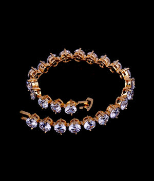 (6MM) GOLD TWO PRONG TENNIS BRACELET