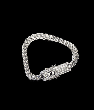 (6MM) WHITE GOLD FRANCO CUBAN BRACELET