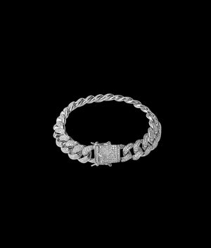 (14MM) WHITE GOLD ICED CUBAN BRACELET