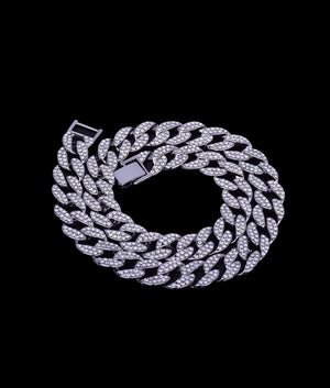 (15MM) WHITE GOLD ICED CUBAN CHAIN