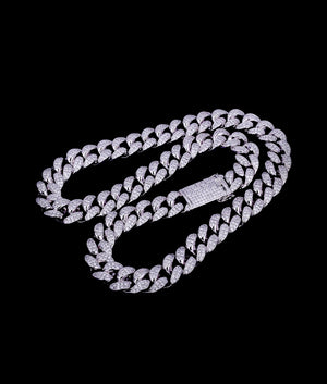 (20MM) WHITE GOLD ICED CUBAN CHAIN