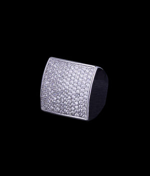 WHITE GOLD SQUARE RING