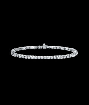 (3MM) WHITE GOLD TENNIS BRACELET