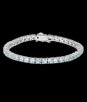 (4MM) WHITE GOLD TENNIS BRACELET