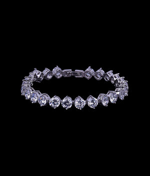 (6MM) WHITE GOLD TWO PRONG TENNIS BRACELET