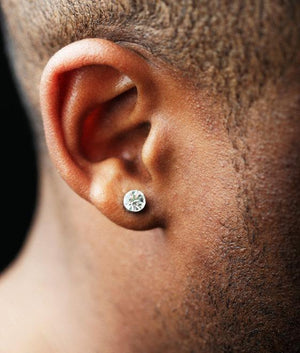 (6MM) STUD EARRINGS