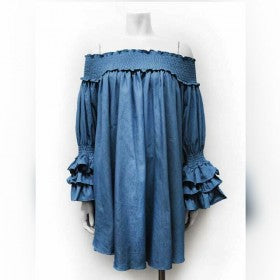Doll Baby Denim Frill Dress